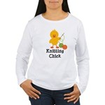 Knitting Chick Women's Long Sleeve T-Shirt