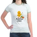 Knitting Chick Jr. Ringer T-Shirt