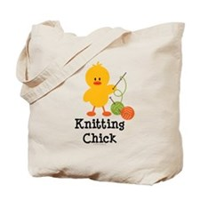 Knitting Chick Tote Bag