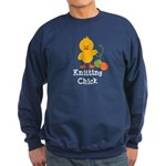 Knitting Chick Sweatshirt (dark)