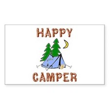 Happy Camper Rectangle Sticker 50 pk)