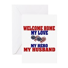 welcome home husband Greeting Cards (Pk of 10)