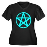 PROUD PAGAN Women's Plus Size V-Neck Dark T-Shirt