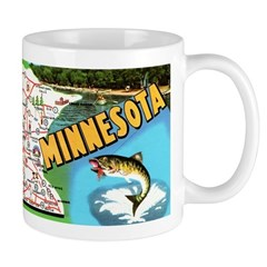 1960's Minnesota Map Mug