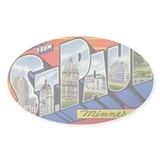 Greetings from St. Paul Oval Decal