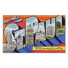 Greetings from St. Paul Rectangle Sticker 10 pk)