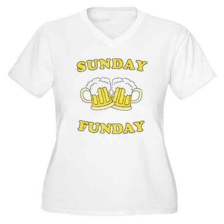 Sunday Funday Plus Size V-Neck Shirt