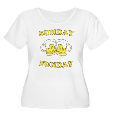 Sunday Funday Plus Size Scoop Neck Shirt