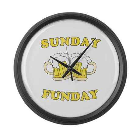 Sunday Funday Large Wall Clock