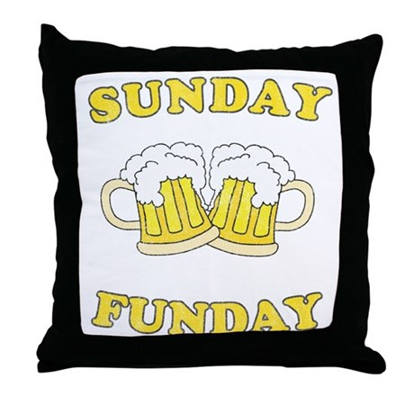 Sunday Funday Throw Pillow
