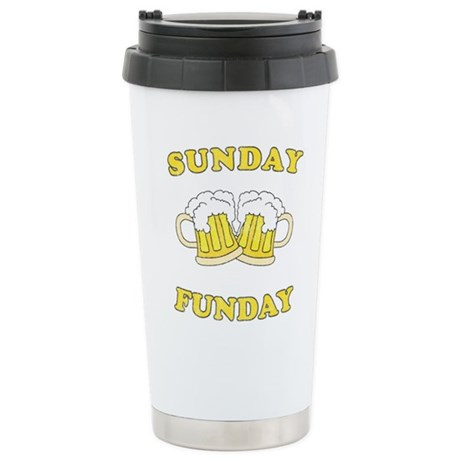 Sunday Funday Ceramic Travel Mug