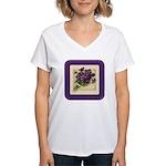 Bouquet of Violets Women's V-Neck T-Shirt