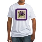 Bouquet of Violets Fitted T-Shirt