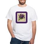 Bouquet of Violets White T-Shirt