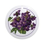 Bouquet of Violets Ornament (Round)