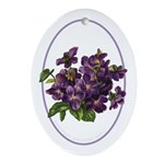 Bouquet of Violets Oval Ornament