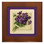 Bouquet of Violets Framed Tile