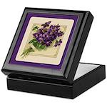 Bouquet of Violets Keepsake Box