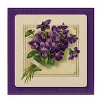 Bouquet of Violets Tile Coaster