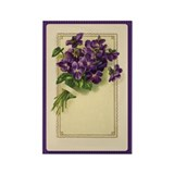 Bouquet of Violets Rectangle Magnet