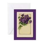 Bouquet of Violets Greeting Cards (Pk of 10)