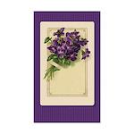 Bouquet of Violets Rectangle Sticker 10 pk)