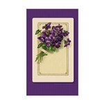 Bouquet of Violets Rectangle Sticker