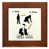 """Stop, Drop, Rick Roll"" Framed Tile"