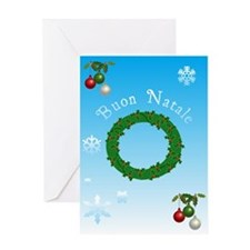 Italian Christmas Cards Greeting Card