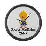 Sports Medicine Chick Large Wall Clock