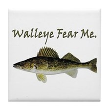 Walleye Fear Me Tile Coaster
