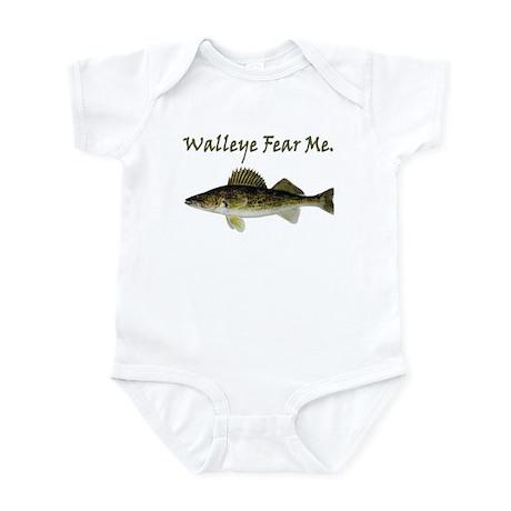 Walleye Fear Me Infant Bodysuit
