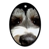 Miniature Schnauzer Oval Ornament