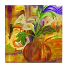 Calla lilies with a abstract background