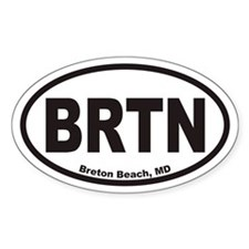 Breton Beach BRTN Euro Oval Decal