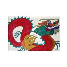 Cute Chinese zodiac snake Rectangle Magnet (10 pack)