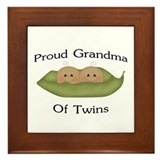 Proud Grandma Of Twins Framed Tile