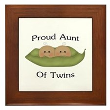 Proud Aunt Of Twins Framed Tile
