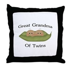 Great Grandma Of Twins Throw Pillow
