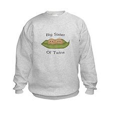Big Sister Of Twins Sweatshirt