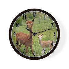 Alpaca Clock Wall Clock