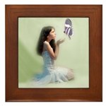 Butterfly Girl Framed Tile