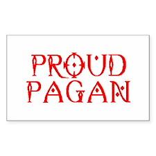 PROUD PAGAN Rectangle Decal