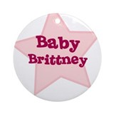 Baby Brittney Ornament (Round)