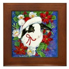 Christmas Rabbit Framed Tile