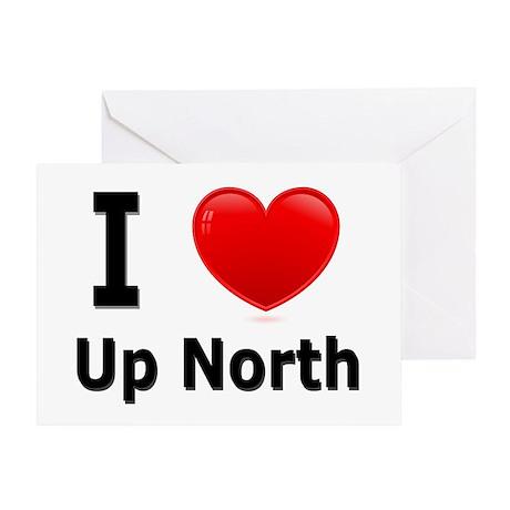 "I Love ""Up North"" Minnesota Greeting Card"