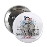 "Romney GOP Elephant 2.25"" Button"