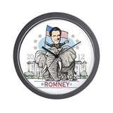 Romney GOP Elephant Wall Clock