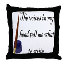 Writing Voices Throw Pillow