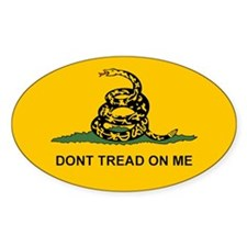 Gadsden Dont Tread Oval Decal